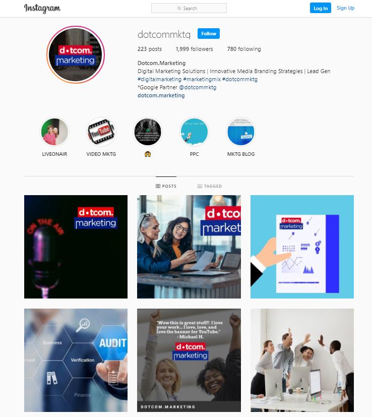 dotcom marketing instagram social media marketing